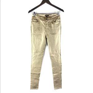 Alberto Makali Metallic Gold Skinny Pants